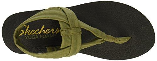 Verde Sandalias nbsp;Studio Kicks Meditation Skechers Oliva Mujer T8UW7n