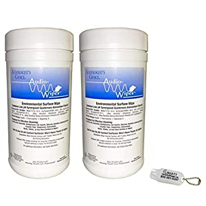 2 Pack Bonus Bundle! Audio-Wipes Hearing Aid Wipes – Large Canister (160 Wipes Per Canister) and Liberty Hearing Aid…