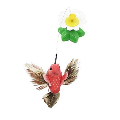 OrliverHL Creative Pet Cat Kitten Electric Rotating Butterfly Bird Rod Cat Teaser Play Toy (Butterfly Pets)