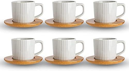SOPRETY 2er Set Kaffeetassen als Hochzeitsgeschenk f/ür Brautpaar Kaffeebecher Set Keramik Tasse mit Untertasse und L/öffel 200ml Geschenkidee zur Jubil/äum Geburtstage Jahrestage