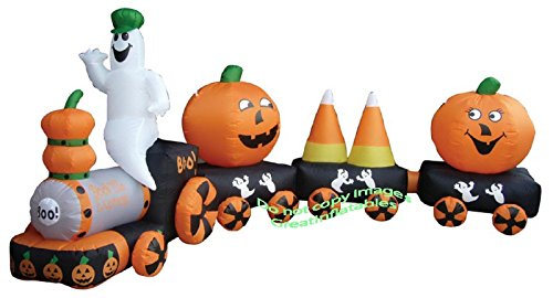 AIRBLOWN INFLATABLE HALLOWEEN 14' LONG TRAIN-NEW FOR