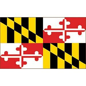 Flag State Maryland Poly 3ft X 5ft