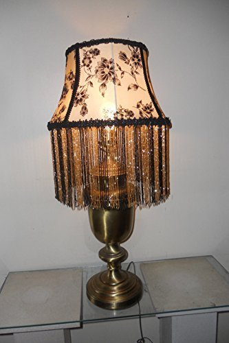 Beaded Lamp Shade, Elegant, One of a Kind Handmade Lamp Shade with base - EVENING IN PARIS