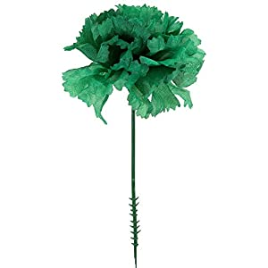 "Royal Imports 100 Silk Carnations, Artificial Fake Flower for Bouquets, Weddings, Cemetery, Crafts & Wreaths, 5"" Stem Pick (Bulk) 9"