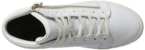Hilfiger Low 1a1 Tommy Sneakers Women's Top White J1285upiter C8zwx4