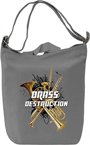Brass destruction Borsa Giornaliera Canvas Canvas Day Bag| 100% Premium Cotton Canvas| DTG Printing|