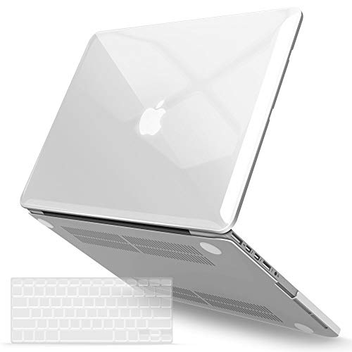 iBenzer Macbook Pro 13 Inch Case 2012-2015, Soft Touch Hard Case Shell Cover with Keyboard Cover for Apple MacBook Pro 13 with Retina Display A1425 1502, Crystal Clear, MMP13R-CYCL+1 (Macbook Pro 13 Inch 2015 With Retina Display)