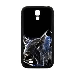 2015 popular Abstract Wolf Pattern Custom Protective Hard Phone Cae For Samsung Galaxy S4