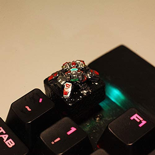 Hand-Made Three-Dimensional Transparent Keycap Mechanical Keyboard Mounting for MX Switch Keycap Rotatable Tank Keycap