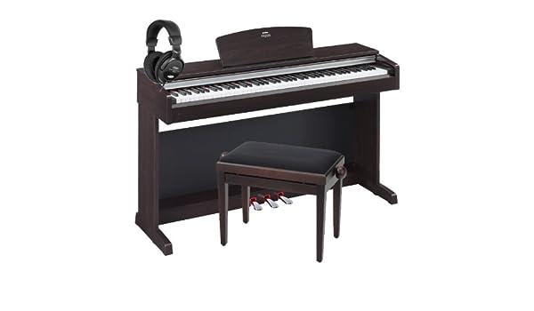 Yamaha ydp de 141 R Arius Rose Juego de madera con piano Banco + Auriculares: Amazon.es: Instrumentos musicales