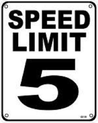 Amazon com : Speed Limit 5 MPH 8''x10'' Metal Novelty Silly