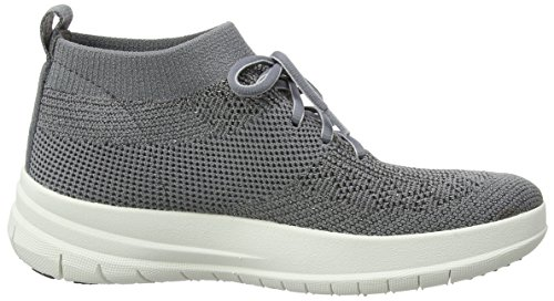 Zapatillas Uberknit Charcoal Sneaker Pewter Top Multicolour Slip High on Mujer Metallic para Altas Fitflop xpwgZBqfw