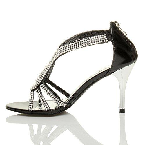 Ajvani - Sandalias de vestir para mujer negro