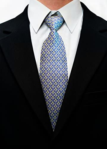 G/én/érique Ma/çonnique Masons Cravate avec Self Imprim/é Place Compas /& G Noir NT055