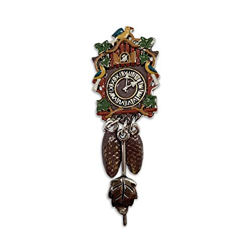 Oktoberfest German Hat Pin Colored Metal Cuckoo Clock