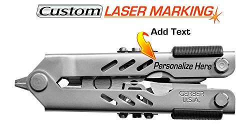Custom Laser Engraved Gerber 400 Compact Sport Multi Tool Stainless with Sheath 05500