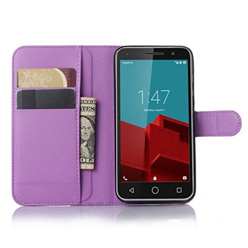 Funda Vodafone Smart Prime 6,Manyip Caja del teléfono del cuero,Protector de Pantalla de Slim Case Estilo Billetera con Ranuras para Tarjetas, Soporte Plegable, Cierre Magnético(JFC12-1) H