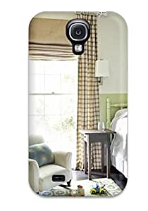 Popular Galaxy New Style Durable Galaxy S4 Case Green And White Boy8217s Bedroom With Brown Plaid Curtains