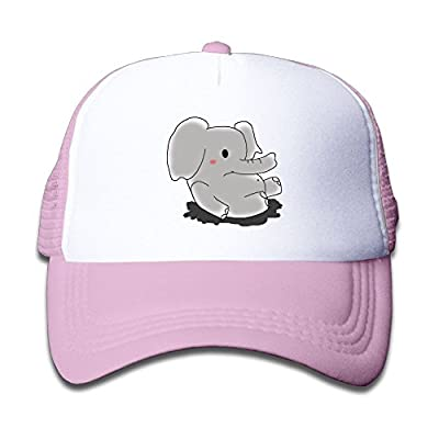 Kocvbng I Cute Elephant Baby Girl Snapback Mesh Baseball Hats Youth Size Cap