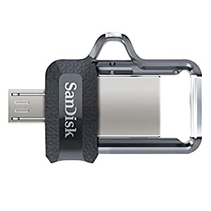 SanDisk 64GB Ultra Dual Drive m3.0 for Android Devices and Computers - microUSB, USB 3.0 - SDDD3-064G-G46