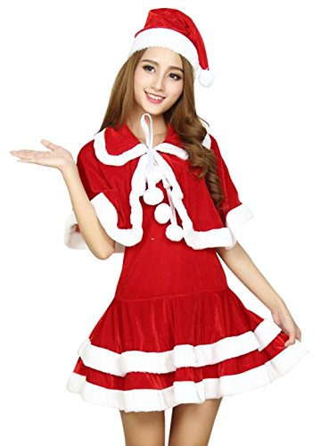 Pantomime Costumes Cheap (hideaway hideway Miss Santa Costume Christmas Party [ Size : M ] Christmas Costume (M))