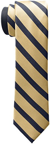 Tommy Hilfiger Men's Slide Stripe Tie, Yellow, One Size