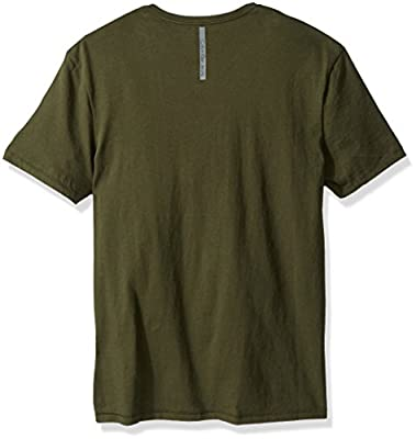 Calvin Klein Jeans Men's Short Sleeve Serif Logo V-Neck T-Shirt