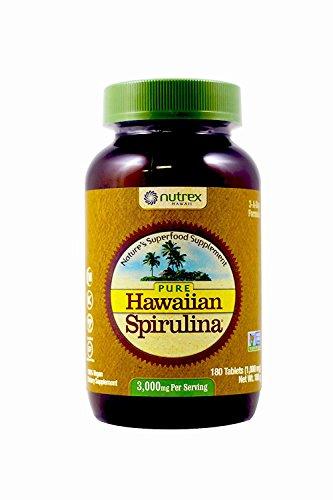 Nutrex Hawaii Hawaiian Spirulina Pacifica 1000 mgs., 180-tablet Bottle (Pack of 2) by Nutrex