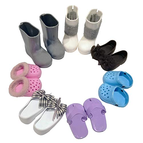 7 Pairs of Shoes & Boots for 18″ Dolls Now $9.00 **Fits American Girl**
