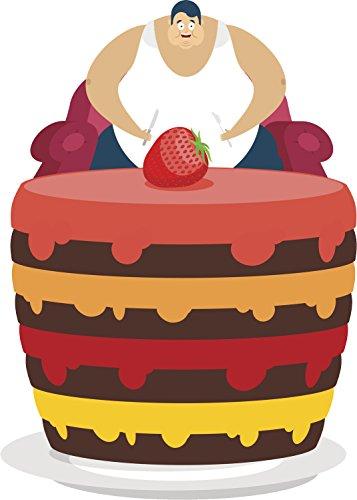 Happy Cake Lover Strawberry Layered Chocolate Cartoon Vinyl Decal Sticker (2