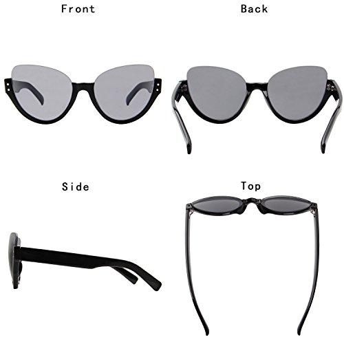 Gafas Gafas LianSan Aviator ls4703 UV único Sol Half de Frame nbsp;Negro Protección SzwqpCw