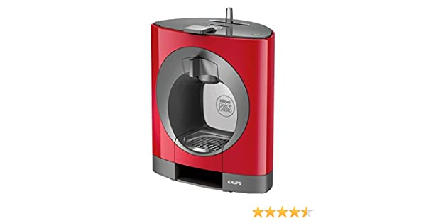 Krups KP1105 Oblo Nescafé Dolce Gusto - Máquina de café y otras bebidas en cápsulas, capacidad 0,8 litros, potencia 1500 W, color rojo