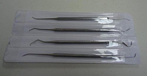 Double Scaler End - 4PC Assorted 4 Double End Stainless Steel Oral Carvers