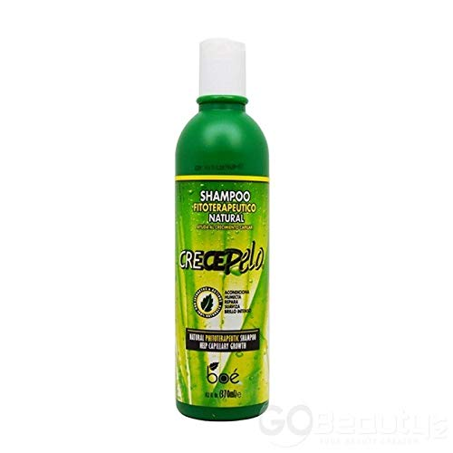 Boe Coesmtics Crece Pelo Shampoo Fitoterapeutico Natural Shampoo, 13.2 Fluid Ounce