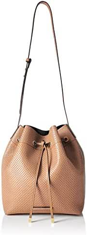 A|X Armani Exchange Perforated Pebble Pu Bucket Bag