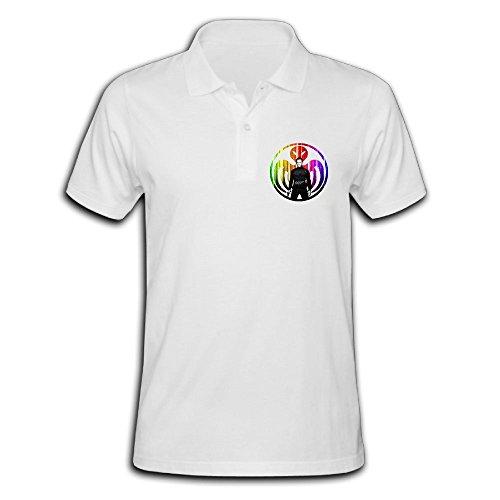 James Short Sleeve Polo Shirts For Men L (Triple Bar Stripe Polo)