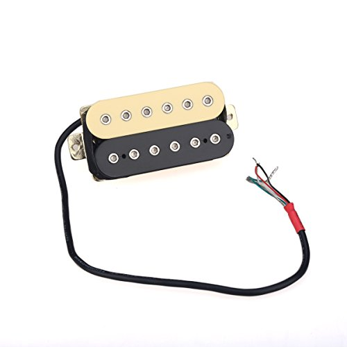 Double Humbucker - Musiclily 50mm Guitar Pickup Double Coil Humbucker Pickups for Electric Guitar, Zebra