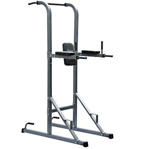New MTN-G Dips Pull-up Stand Core Fitness Knee Raise Power Tower Rack Full Body Exercise by MTN-G