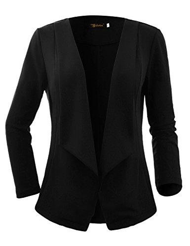 Haut Mini Top Yidarton Rome Femme Mode Vestes Longues Manches Noir Costume Pardessus Manteau Casual SqXqPUA