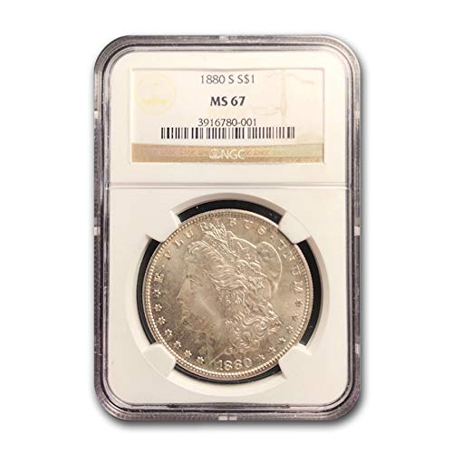 1880 S Morgan Dollar MS-67 NGC $1 MS-67 NGC