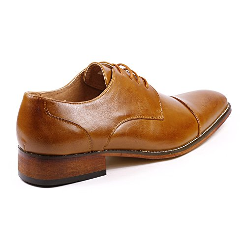 Lace Up MC106 Metrocharm Toe Rusty Oxford Cap Classic Shoes Brown Dress AIqax