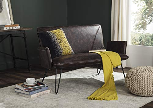 Safavieh Home Collection Johannes Mid-Century Modern Antique Brown Settee