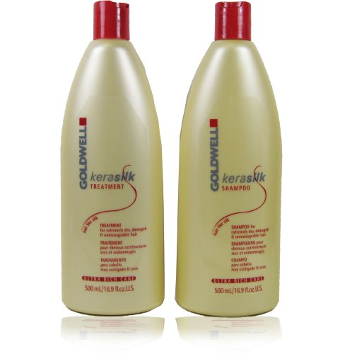 Goldwell Kerasilk Ultra Rich Care Shampoo and Treatment Set for Extremely Dry Hair 16.9oz Each by Goldwell