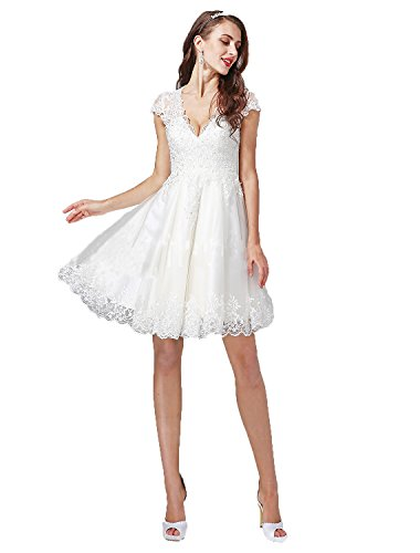 beaded angel sleeve wedding dress - 8