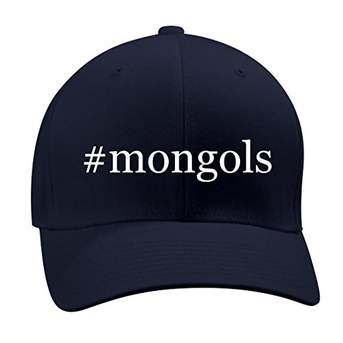 #mongols - A Nice Hashtag Men's Adult Baseball Hat Cap, Dark Navy, Large/X-Large