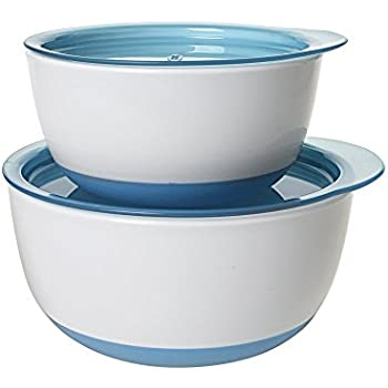 OXO Tot Small & Large Bowl Set with Snap On Lids - Aqua