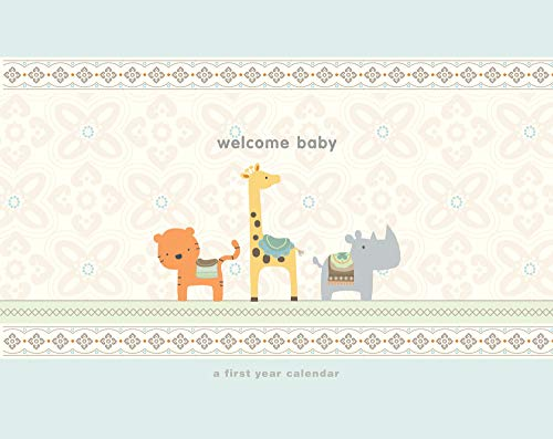 C.R. Gibson Safari Animals Baby's First Year Calendar Memory Book, 11