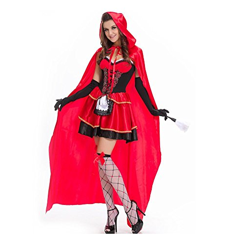 50s Showgirl Costumes (Halloween Costumes for Womens,Little Red Riding Hood. (2XL(CN)))