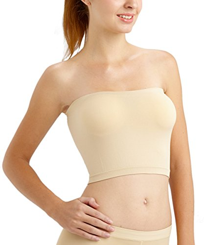 Anny Women's Smooth Bandeau Bra Beige - Smooth Bandeau Bra