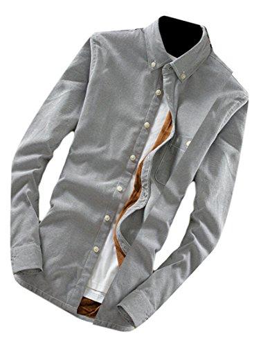 M&S&W Men's Fashion Thick Plaid Long Sleeve Button Down Shirt 15